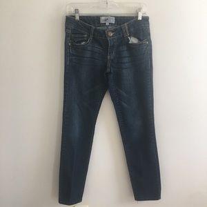 Jolt low rise dark wash straight jeans size 5